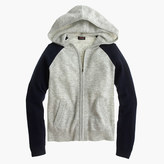 J.Crew Girls' colorblock cashmere hoodie