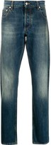 Alexander McQueen faded-effect straight jeans