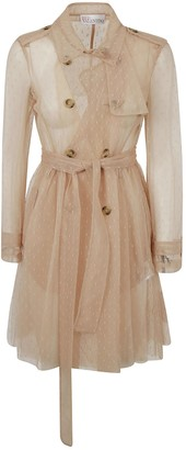 RED Valentino See-through Double-breasted Trench