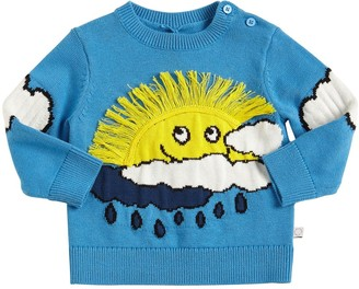 Stella McCartney Kids Sun Cotton Blend Intarsia Sweater