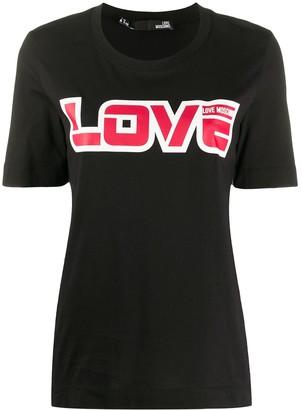 Love Moschino love logo print T-shirt
