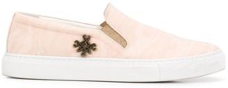 Mr & Mrs Italy Pink Slip On Sneakers