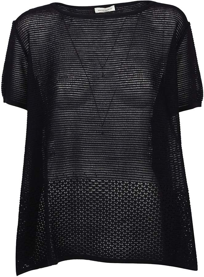 Bruno Manetti Patterned Knit Top