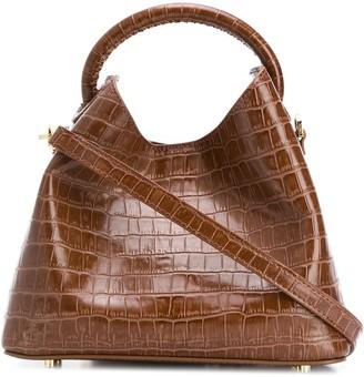 Elleme Baozi Croc-Embossed shoulder bag