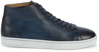 Magnanni Textured Leather Platform Sneakers