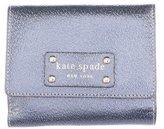 Kate Spade Metallic Leather Flap Wallet
