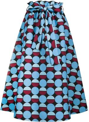 La DoubleJ Sardegna A-line midi skirt