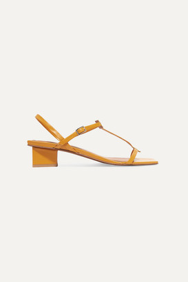 BY FAR Krista Leather Sandals - Tan