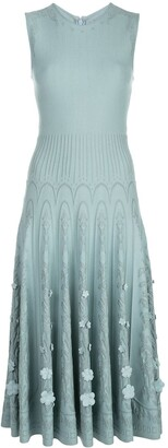 Oscar de la Renta Knitted Sleeveless Dress