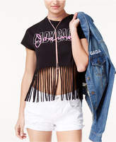 Bravado Lady Gaga Joanne Tour Juniors' Cotton Fringed T-Shirt