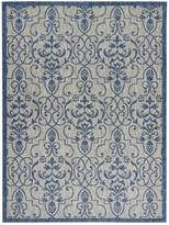 Garden Party Indoor/Outdoor Area Rug - Ivory/Blue
