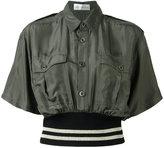 Faith Connexion contrast trim shirt - women - Acrylic/Polyamide/Polyester/Spandex/Elastane - XS