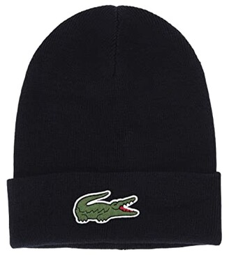 Lacoste Big Croc Beanie (Navy Blue) Caps