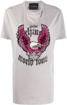 John Richmond embellished eagle T-shirt