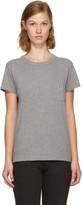 MAISON KITSUNÉ Grey Tricolor Fox Patch Pocket T-shirt