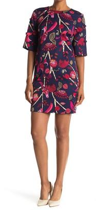 Trina Turk Natural Floral Print Dress