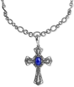 Carolyn Pollack Lapis Lazuli Doublet Pendant Necklace (5-3/4 ct. t.w.) in Sterling Silver