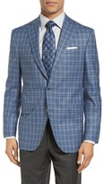 David Donahue Men's Connor Classic Fit Check Wool Sport Coat