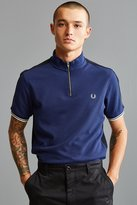 Fred Perry Zip Neck Pique Polo Shirt