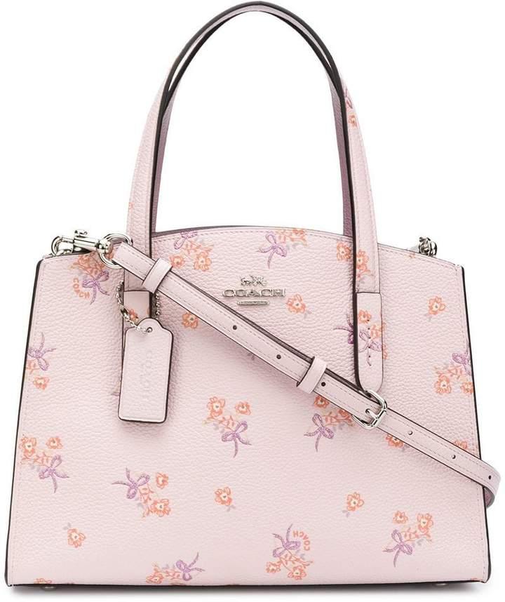 Coach floral print tote bag
