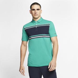 Nike Mens Striped Golf Polo Dri-FIT Player