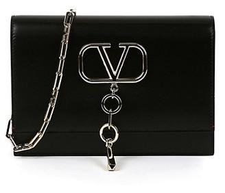 Valentino Vchain Logo Embellished Chain Strap Shoulder Bag