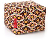 Style Homez Square Cotton Canvas Geometric Printed Bean Bag Ottoman L Size Cover Only