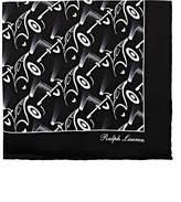 Ralph Lauren Purple Label Men's Automotive-Print Silk Twill Pocket Square