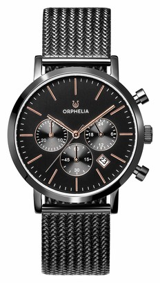 ORPHELIA Mens Chronograph Quartz Watch with Stainless Steel Strap OR82802