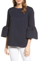Gibson Women's Bell Sleeve Poplin Top
