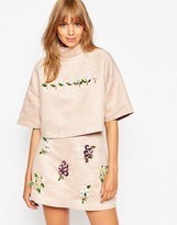 Asos A V Robertson For Funnel Neck Top With Embellished Detail