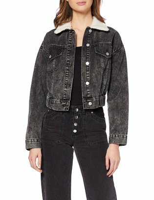 New Look Women's Borg Bomber Jacket Espresso Jeans