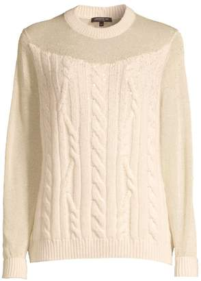 Lafayette 148 New York Cashmere Cable-Knit Sweater