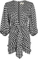 Alexandre Vauthier Polka Dot Silk Dress