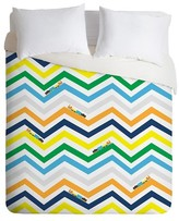 DENY Designs Vy La Train Chevron Duvet Cover