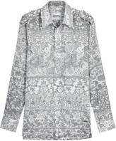 Vivienne Westwood Grey And White Printed Cotton Shirt