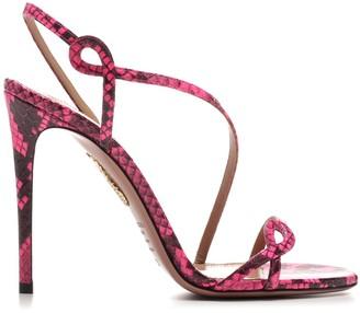 Aquazzura Curved Strap Detail Sandals