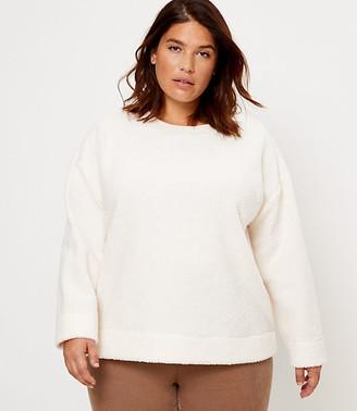 LOFT Plus Cozy Sherpa Sweatshirt