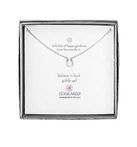 Dogeared Mini Horseshoe Little Bits Of Happy Boxed Reminder Necklace