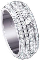 Piaget Possession Turning Pavé Diamond Band Ring in 18K White Gold, Size 6