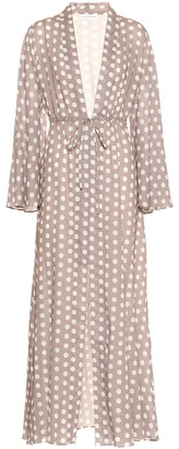 Alexandra Miro Betty polka-dot cotton gown