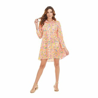 Mud Pie Women's Neon Floral Collins Cover Up (Large)
