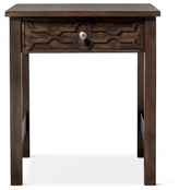 Mudhut Makshah End Table Global Wood Cutout