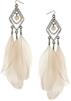 Asos Set Stone Drop Earrings with Hanging Feathers (+)