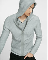 Express plaited full zip hooded sweater