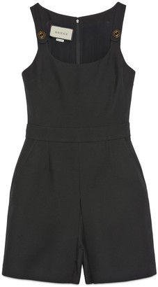 Gucci Short wool silk jumpsuit