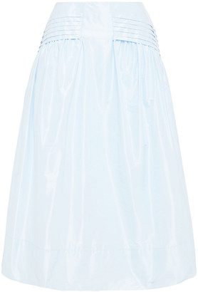 Simone Rocha Pleated Taffeta Midi Skirt