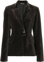 Tom Ford classic fitted blazer - women - Silk/Cotton - 42