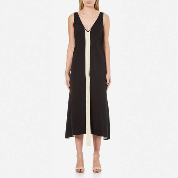 By Malene Birger Women's Awittie Maxi Dress with Centre Stripe Black