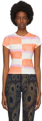 Eckhaus Latta White and Orange Lapped Baby T-Shirt